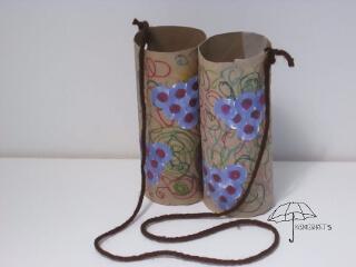 cardboard roll binoculars