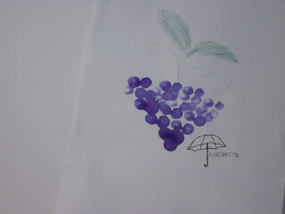 finger paint grapes