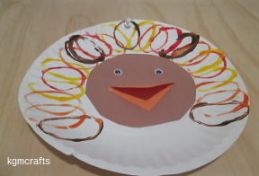 painted turkey for Thanksgiving
