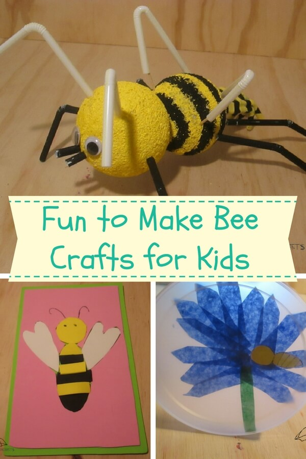 bee crafts for kids for springtime fun!