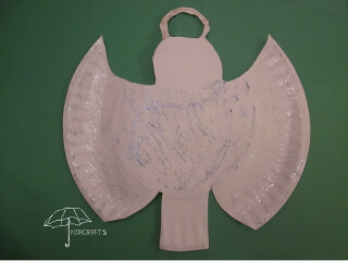 Top your Christmas tree with a paper plate angel