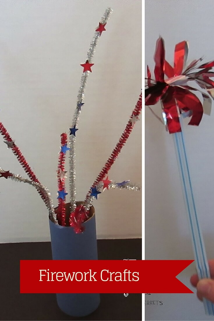 two firework crafts