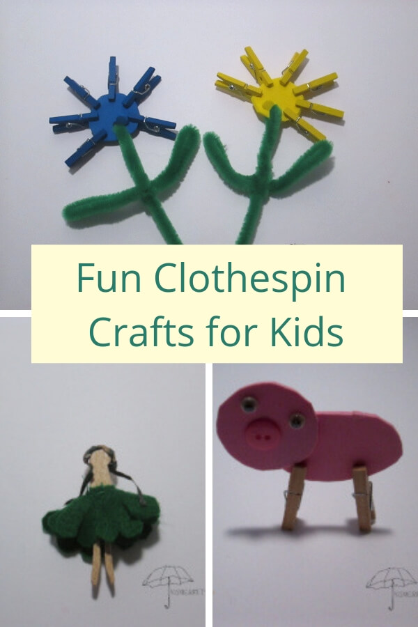 Have fun creating flowers, animals, and people with clothespin crafts for kids.