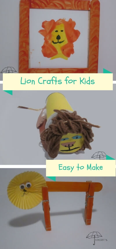 lion crafts for kids
