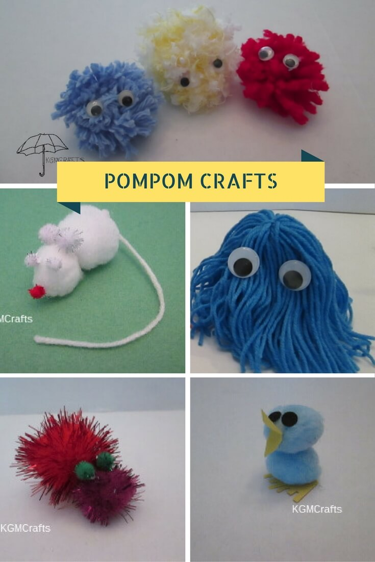 different pompom crafts your kids can make