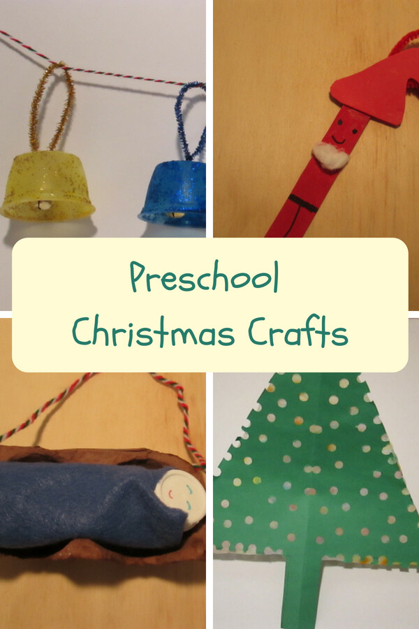 Preschool Christmas Crafts Look what your what your child can make to decorate the tree and house.