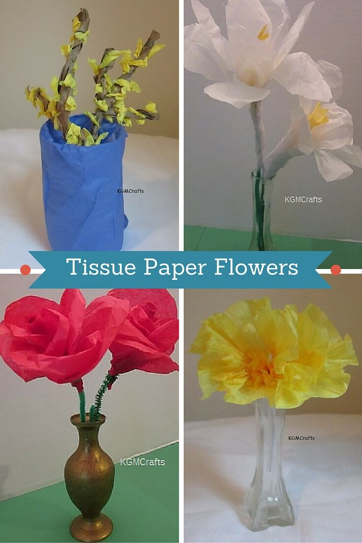 Tissue paper flowers for kids to make dhlflorist Images