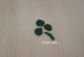 cut out green felt
