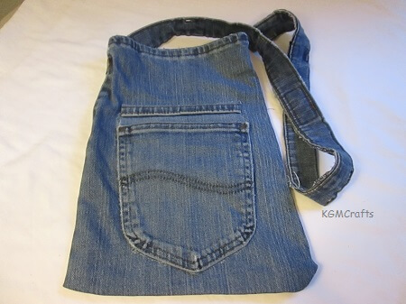recycled jean bag
