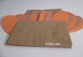 glue feathers under flap