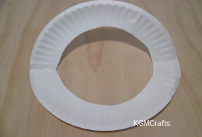 cut rim off one paper plate