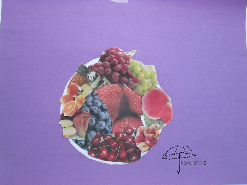 bowl of fruit collage