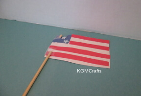 put flag on dowel