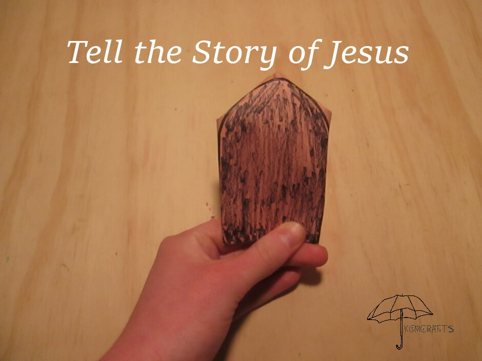 cut and fold paper to tell the story of Jesus' birth, death, and resurrection.