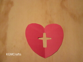 cut the heart and cross out