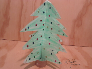 3d paper plate tree