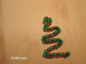 continue adding beads