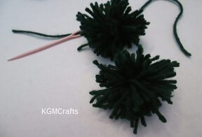 sew the pompom together