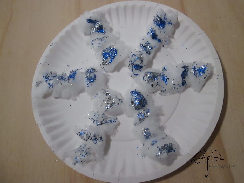 cotton ball snowflake