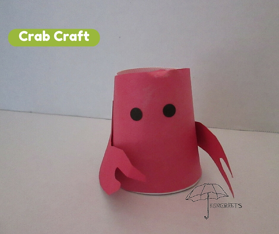 paper cup crab craft for kids crab crafts for 7859