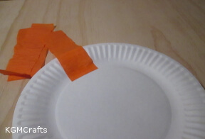 add streamer to paper plate