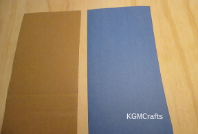 for stand cut cardboard and blue paper