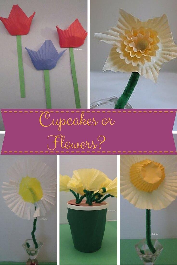 5 cupcake liner flowers