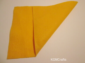 make a square piece of felt