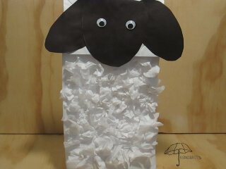 paper bag sheep