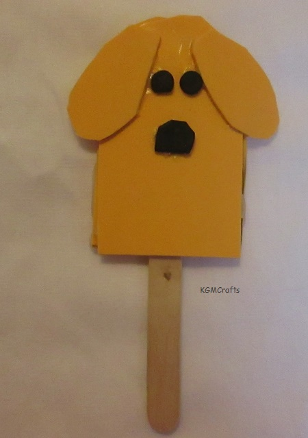 craft foam dog puppet