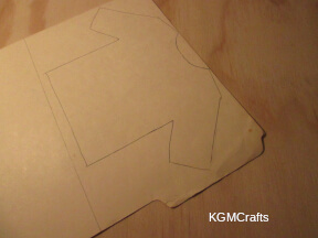 cut the shape from cardboard
