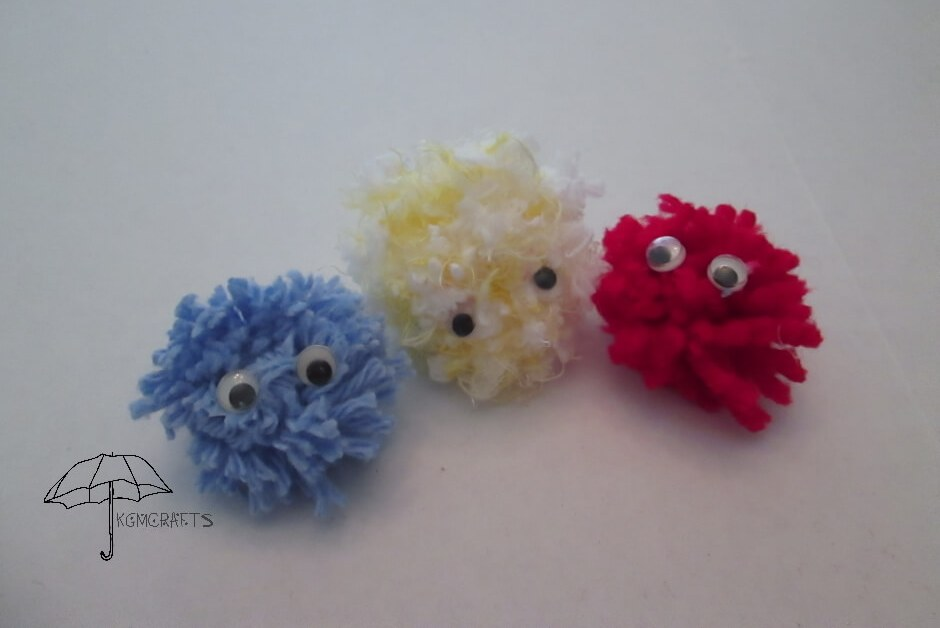 yarn dust bunnies