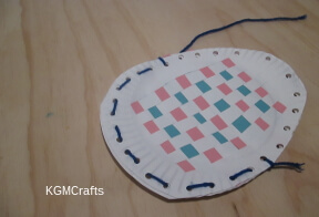 sew the two plates together around the bottom