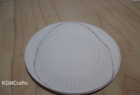 draw a egg shape on paper plates