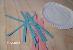 cut strips of construction paper