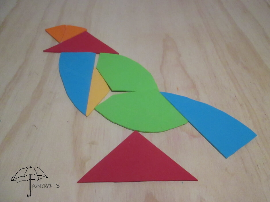 tangram bird number 2
