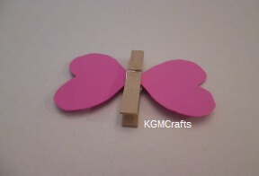 glue wings to clothespin