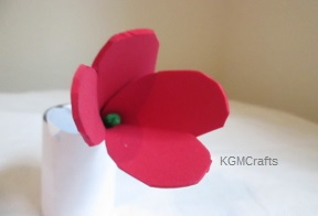 finished foam tulip