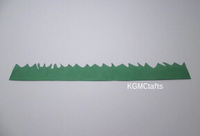 cut a strip of green construction paper