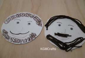 use yarn or markers to make a face on a paper plate