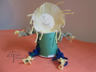 cup scarecrow