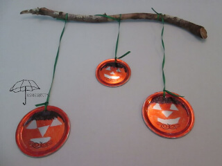 jar lid pumpkins