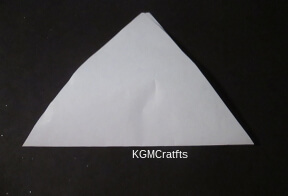 fold in half and cut triangle