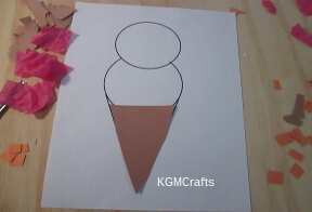 cut a triangle for cone