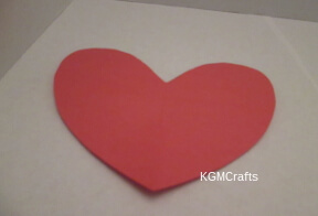cut a red heart