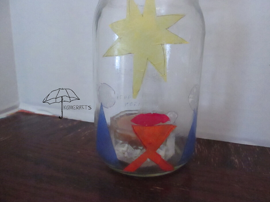 mason jar nativity candle