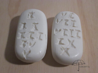 10 commandments on bar of soap