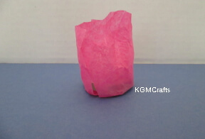 cover with tissue paper