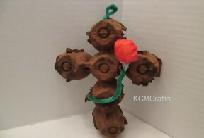thumbnail of egg carton cross