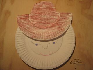 paper plate cowboy
